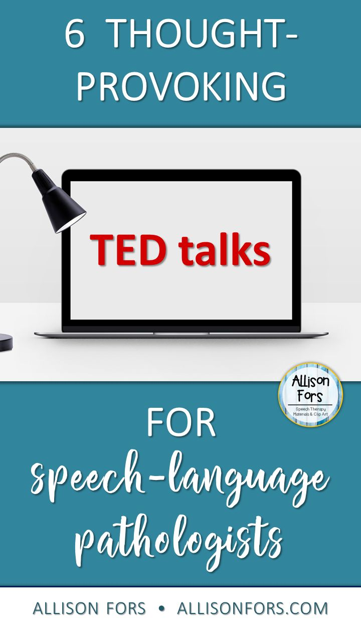 I've rounded up some of my favorite speech related TED talks!