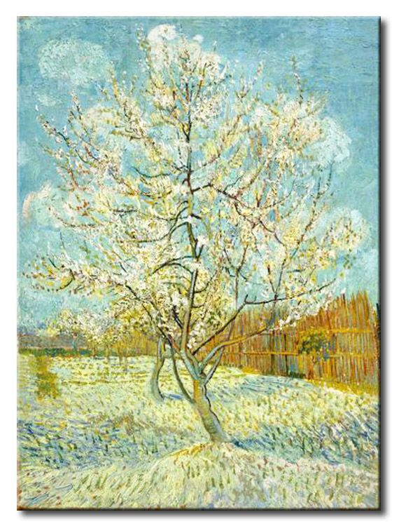 MU_VG2035 t_Van Gogh _ The pink peach tree / Cuadro Arte Famoso, Melocotonero Rosado