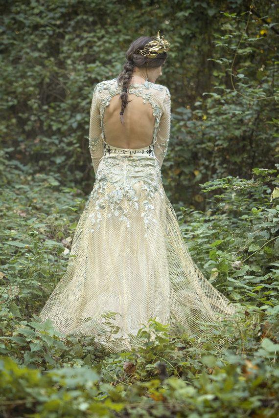 SALE Gold tulle bohemian dress