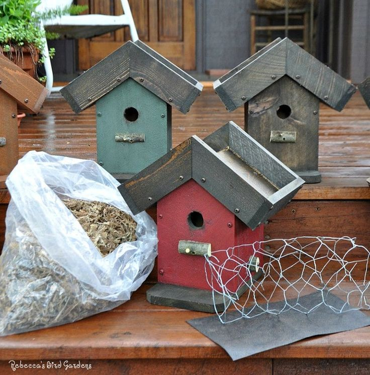 DIY Living Roof Birdhouse, Succulent Birdhouse, Green Roof