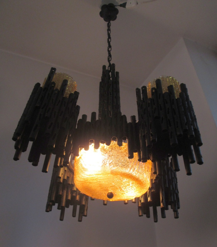 GORGEOUS CHANDELIER Fantoni style brutalist l& mid century modern light art & 10 best Brutalist Furniture and Decor images on Pinterest ... azcodes.com