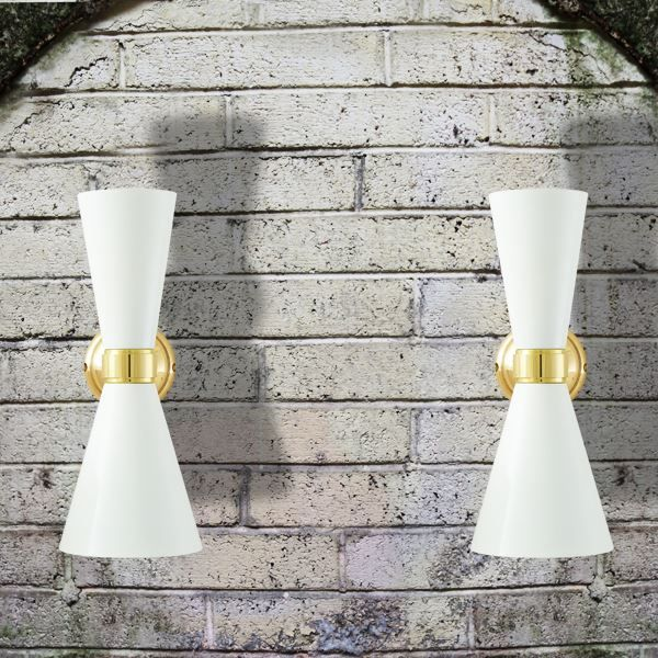 Reflecting the industrial aesthetic of the early 20th century, Cairo Contemporary Wall Light will bring a smooth ambiance to your room. This single arm version has a spun brass shade and is a versatile design that can be used as a wall light or picture light in any contemporary interior.  #walllamp #lighting #wallsconce #contemporarywalllight #wall light #conedesign