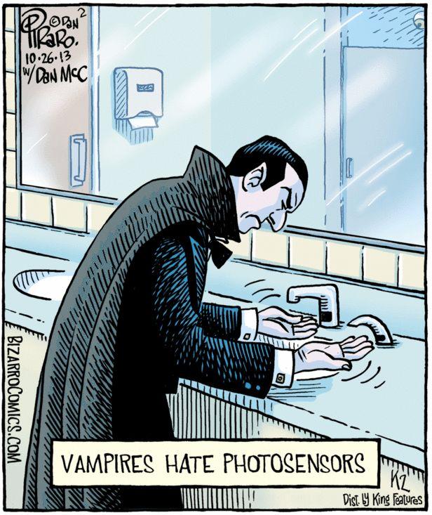 Vampires Hate Photosensors | Bizarro Comics (2013-10-26)