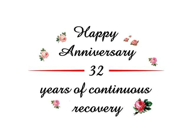 32 Years Happy Recovery Anniversary Card Ad Ad Happy Years Card Anniversary Anniversary Cards Anniversary Funny Happy Anniversary