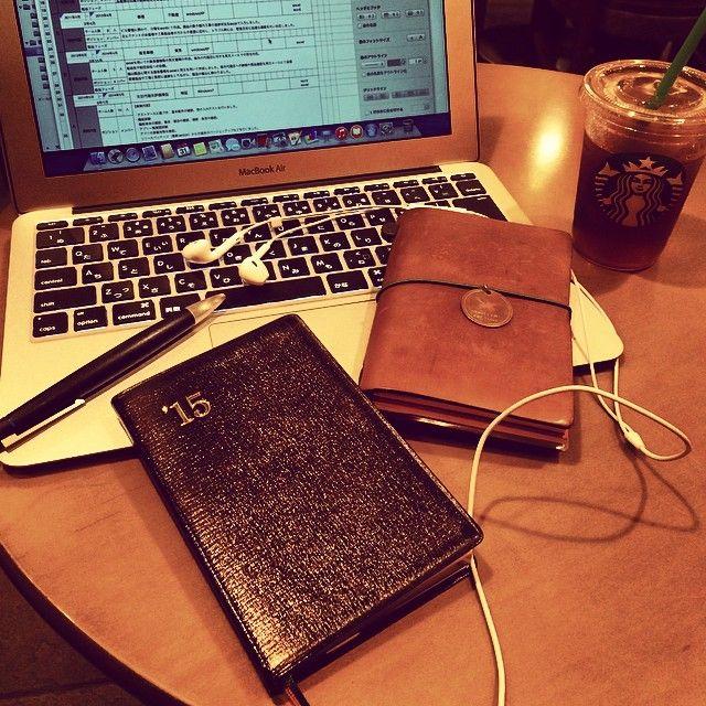2014,10.31 #travelersnote #travelersnotebook #starbucks #starbuckscoffee #lamy #MacBookAir #MacBookAir11 #MacBookAir13 #stasionery #ラミー #トラベラーズノート #スタバ #スターバックス #能率手帳 #能率手帳GOLD #能率手帳ゴールド #おっちゃん手帳 #スターバックスコーヒー #Padgram