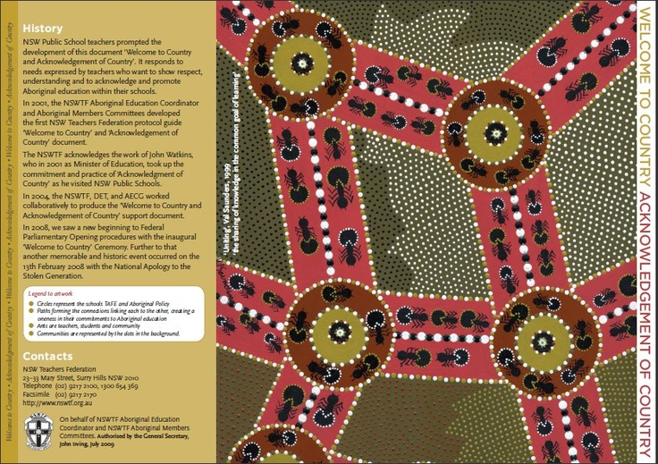 DET Aboriginal Education and Training Policy- 1.1.5 - The strength, diversity, ownership and richness of Aboriginal cultures and Custodianship of Country are respected, valued and promoted.
