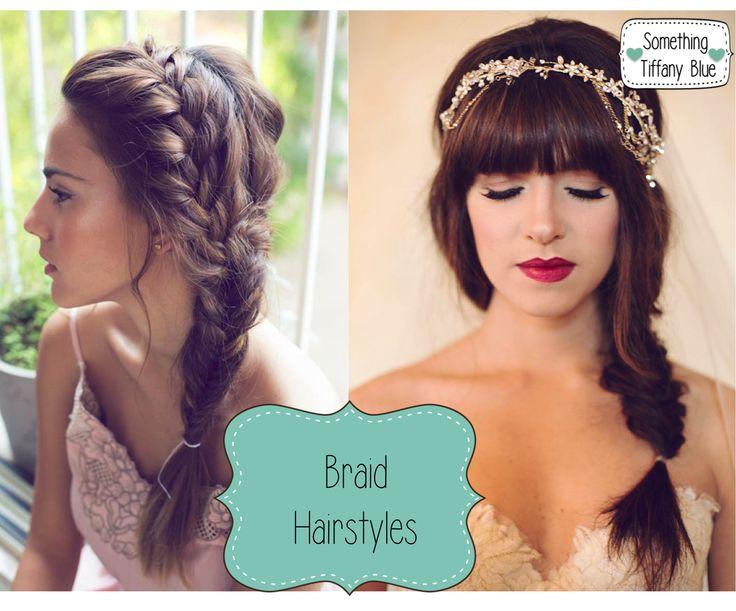 ACCONCIATURE SPOSA: TRECCE MORBIDE E FERMACAPELLI PREZIOSI By www.SomethingTiffanyBlue.com #wedding #hair