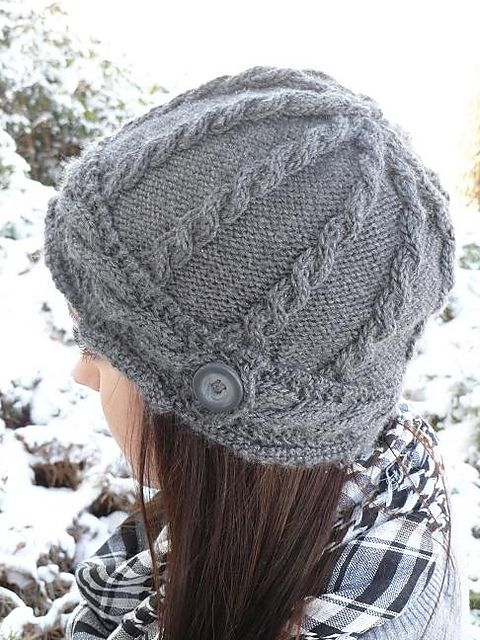 Ravelry: amquilt's Grey Cabled Hat
