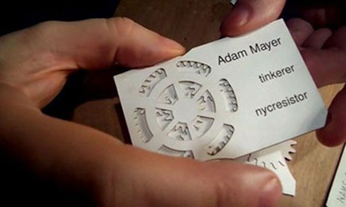 25 Fascinating White Business Cards