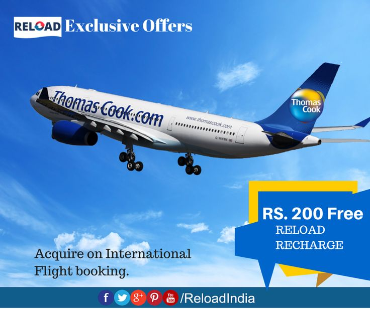 Acquire Rs.200 Free Reload recharge on International Flight booking. Dont Miss our Exclusive offers  https://www.reload.in/shop-and-earn-free-mobile-recharge-online