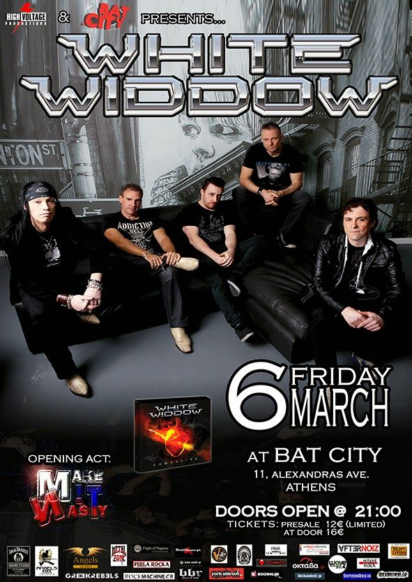 WHITE WIDDOW Live @ Bat City Club 6 Μαρτίου 2015 - Heavy Living, Heavy Metal & Rock Music