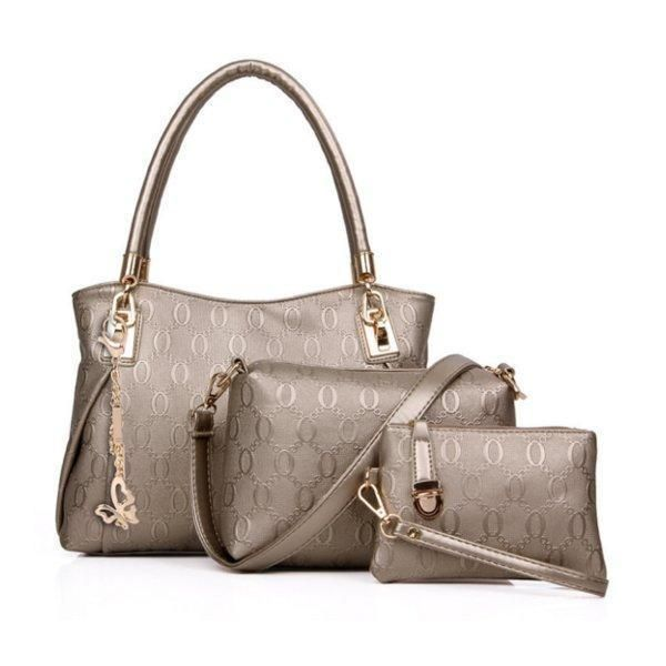Women Handbag Crossbody Bag Clutch PU Leather Fashion Solid Pocket Zipper New…