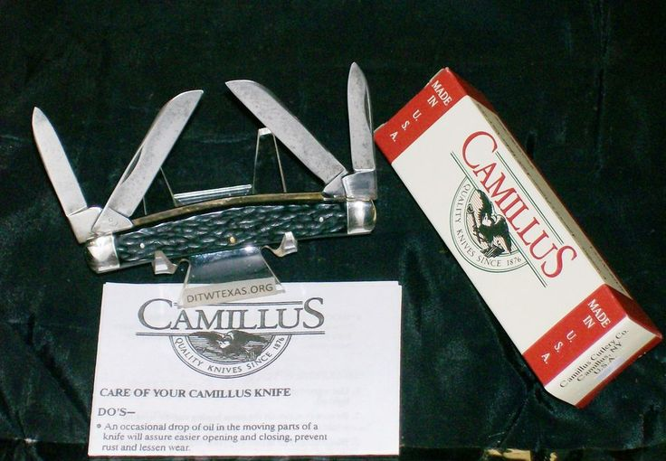 Camillus 91 Full Congress USA Knife Wide Grooved Bolsters W/Packaging,Paperwork @ ditwtexas.webstoreplace.com