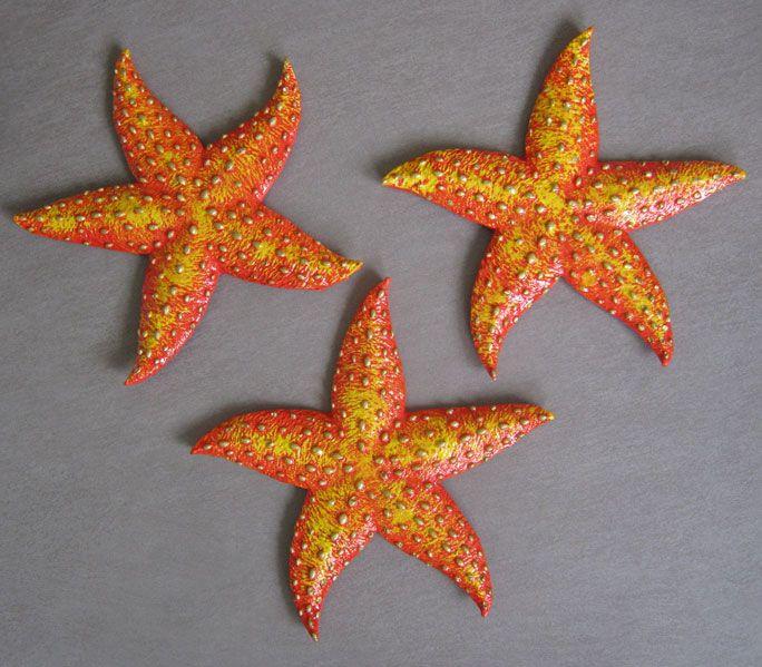 Plaster starfish.