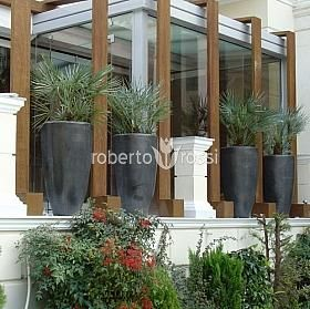 Anthracite ceramic pots