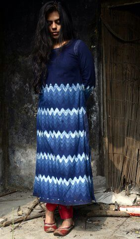 Indigo long kurta