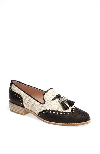 stuart weitzman 'guything' black and white loafers {40% off during Nordstrom's Half Yearly Sale!}