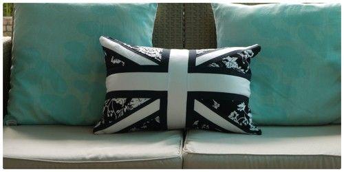 Jam & Jerusalem - Black & White Floral Union Jack