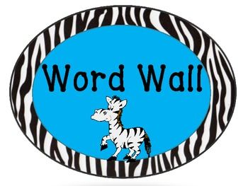 Zebra Themed Classroom Displays