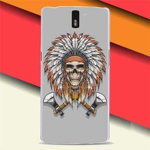 Newer Painted Animal Elephant Tiger Wolf Ax Skull Moblie Phone Case For Oneplus One One Plus One Cases Back Cover Skin Shell