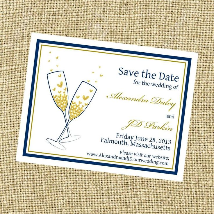 Champagne Save the date, heart save the date, celebrate