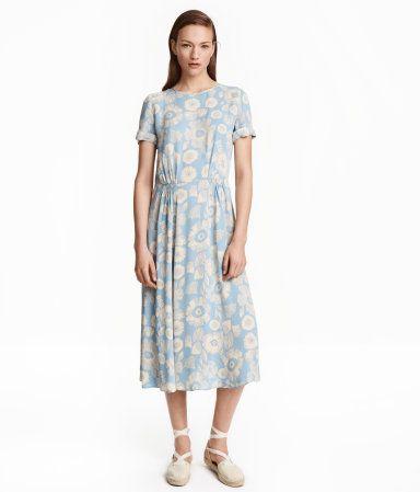 Mønstret kjole | Lyseblå/Blomstret | Ladies | H&M DK