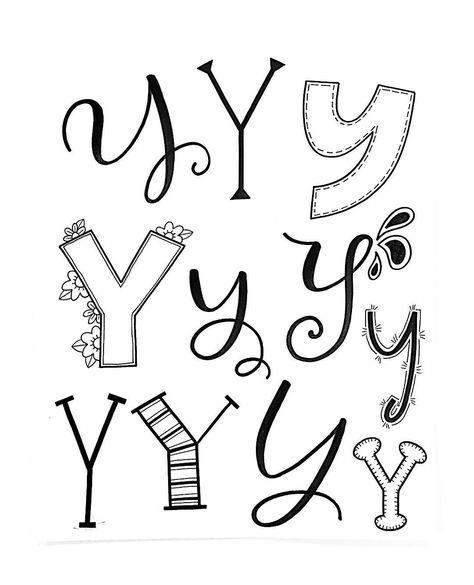 Alfabeto 1 Doodle Y Jessie Arnold (@mrs.arnoldsartroom) #handletteredabcs #handletteredabcs_2017 #abcs_y #lettering