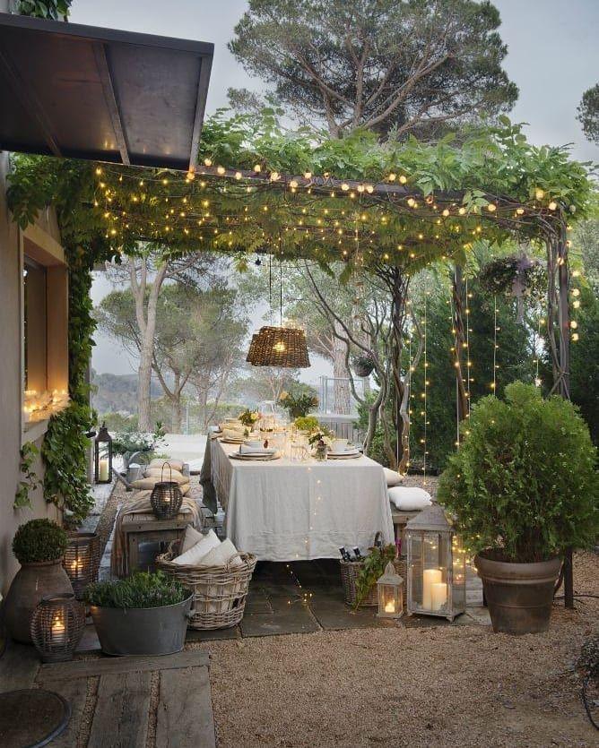 𝓓𝓮𝓬𝓸𝓬𝓸𝓻𝓪𝓬𝓲𝓸𝓷 On Instagram Cenadores De Pelicula Pinterest Sala De Exterior Decoracion De Patio Patio Al Aire Libre