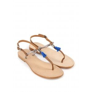 Sandale plate VADDY bleu - NOUVELLE CO'
