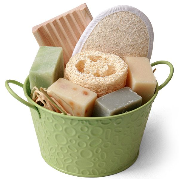 Bucket of Natural Soap Gift Set [gb15]