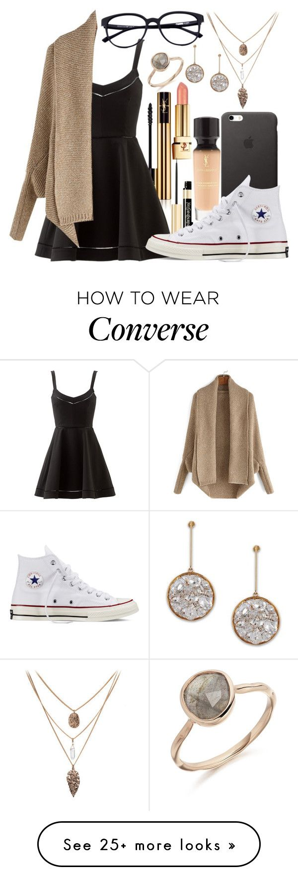 """""""She Knows..."""" by mallorimae on Polyvore featuring Yves Saint Laurent, Elizabeth and James, Converse and STELLA McCARTNEY"""