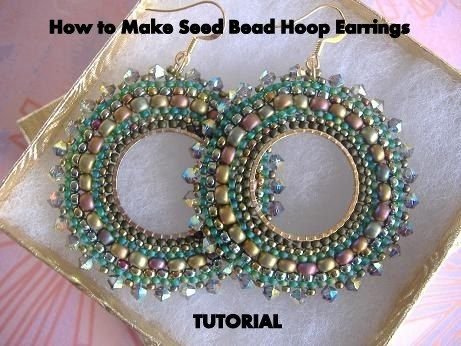 Tutorial How To Make Seed Bead Hoop Earrings Beaded With Beads Products Pinterest And