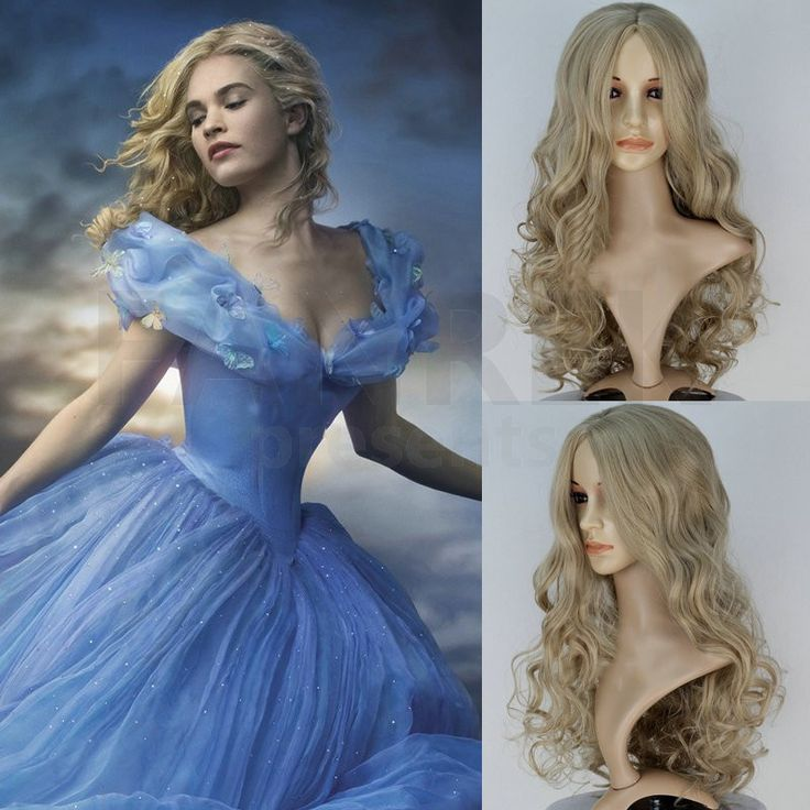 Disney's Live Action Film Cinderella Movie Cosplay Lily James Wigs