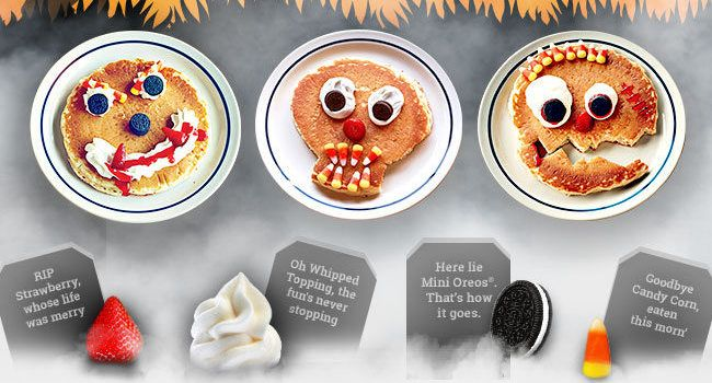 Scary Face Pancake at IHOP! http://www.thecafecoupon.com/2016/10/scary-face-pancake-at-ihop.html
