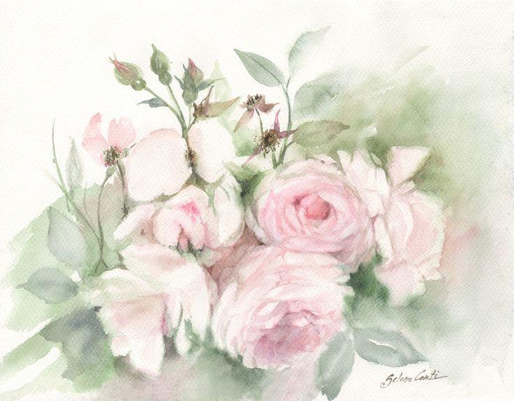 Tender Roses in watercolor