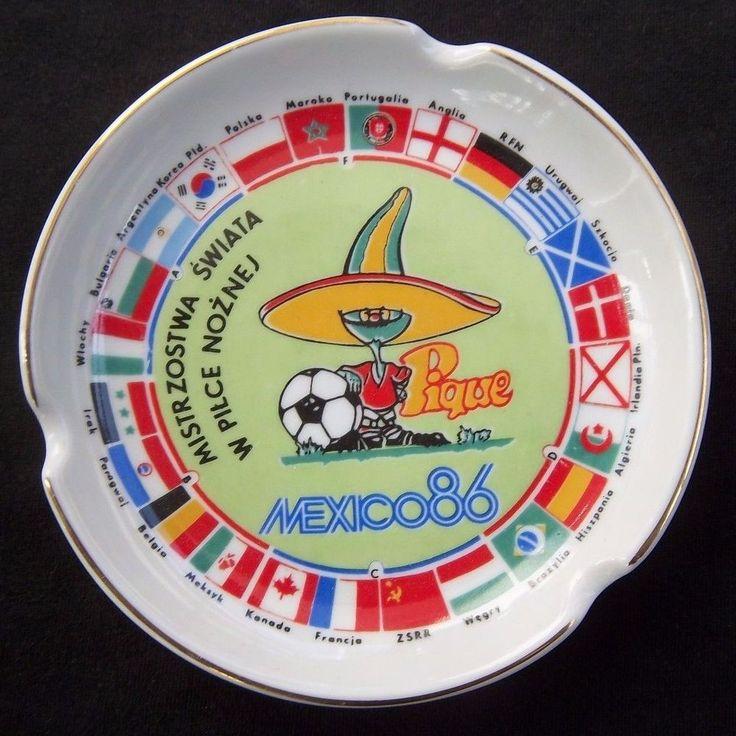 Orig.Porzellanaschenbecher  WM MEXICO 1986 / alle Teams + Maskottchen !! RARITÄT  | eBay
