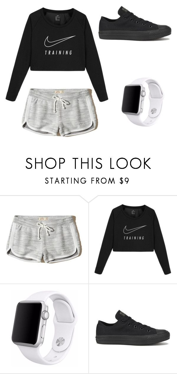 """Nike✅"" by bkw34678 on Polyvore featuring Hollister Co., NIKE, Apple and Converse"