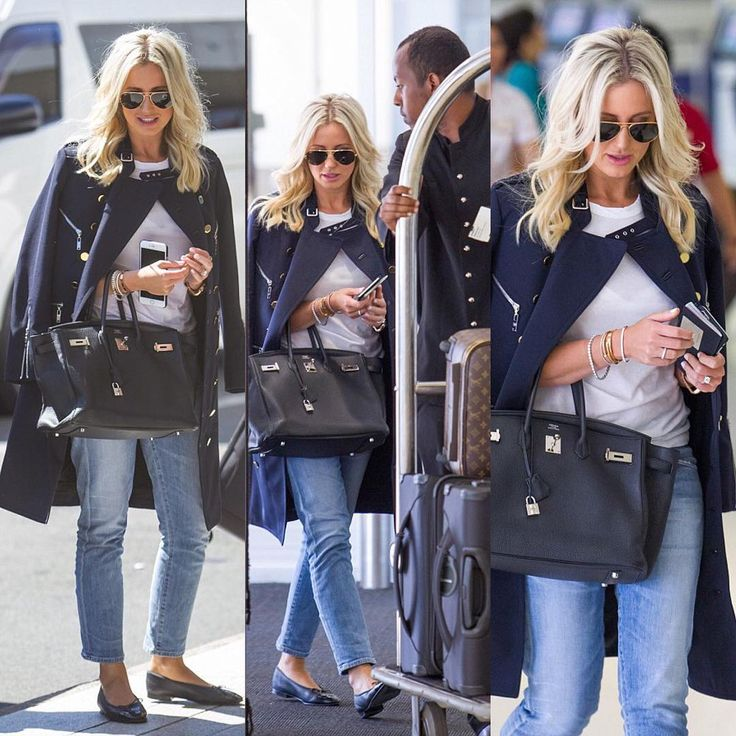 """""""Fav travelling look @citizensofhumanity @louisvuitton @asos @hermes @chanelofficial image via #INFphoto @dailymailau headed to paris today with…"""""""