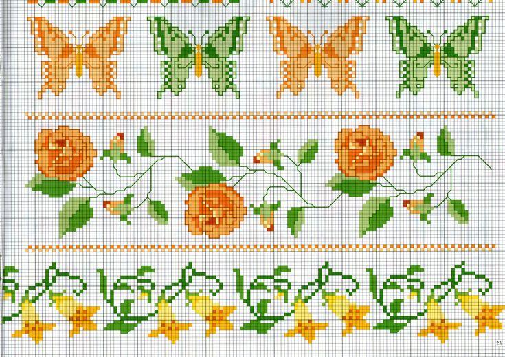 391 migliori immagini schemi punto croce su pinterest for Schemi punto croce fiori e farfalle