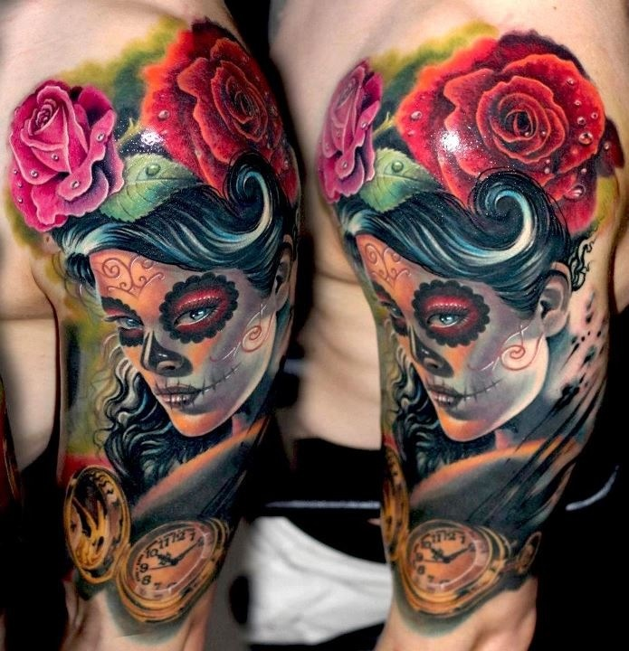 203 Best Day Of The Dead Tattoos Images On Pinterest
