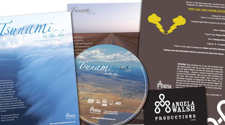 Angela Walsh Productions - collaterals created: Identity, DVD Cover / Label, Flyers, Brochures, Business Card, Posters, Website