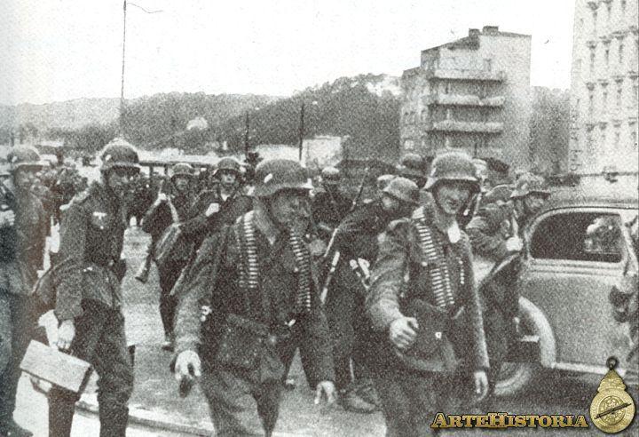 Infanteria alemana entra en Gdynia-Polonia