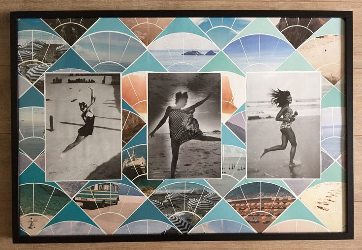 Beach themed collage for my sister (60x90cm)