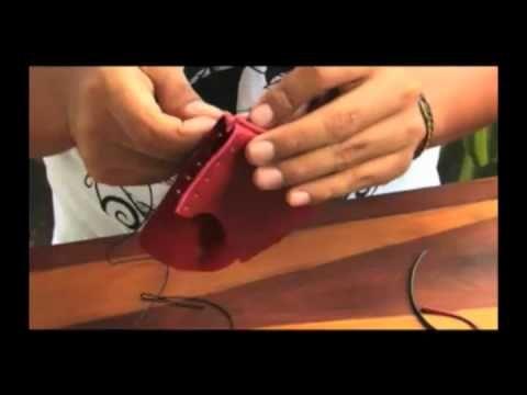 Tutorial monedero de cuero  Leather purse tutorial