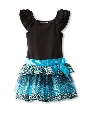 66% OFF Rare Editions Girl's 2-6X Toddler Tutu Dress (Black/turquoise)