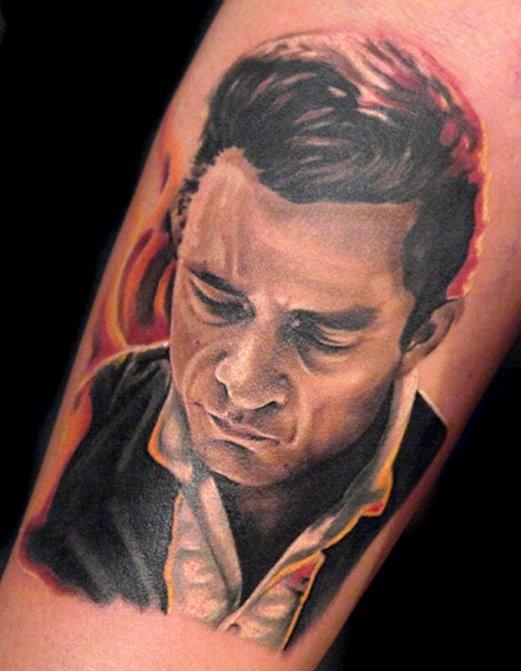 Johnny Cash tattoo.....LOVE:)