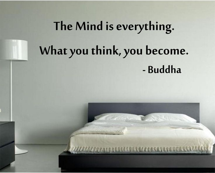 The Mind is Everything Buddah Quote Vinyl Wall Decal Sticker Art Decor Bedroom Design Mural peace art by StateOfTheWall on Etsy https://www.etsy.com/listing/220731103/the-mind-is-everything-buddah-quote