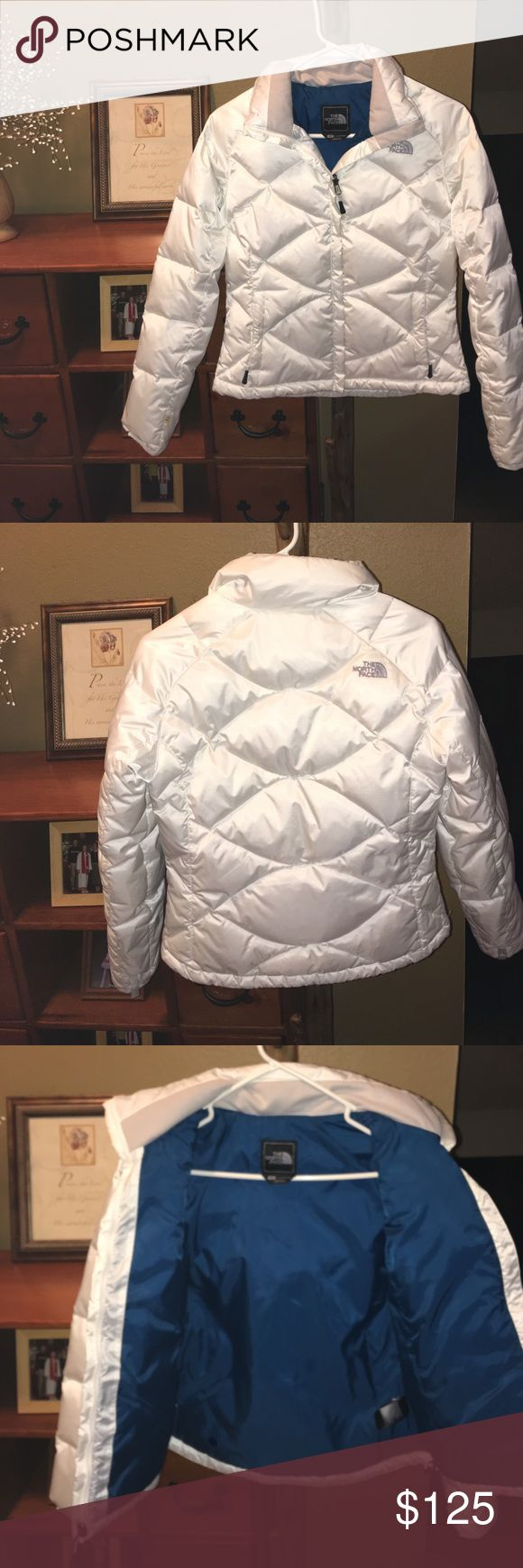 ☁️BRAND NEW Puffy White North Face Winter Jacket☁️ Brand new authentic north face winter jacket. Bought online and discovered it was too short on me :( The North Face Jackets & Coats Puffers