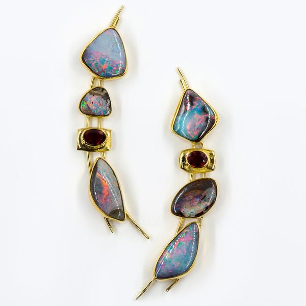 Jennifer Kalled Earrings Opal Jewelry Opal Earrings Jewelry Art