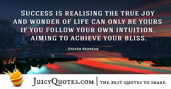 Quote About Success - Steven Redhead